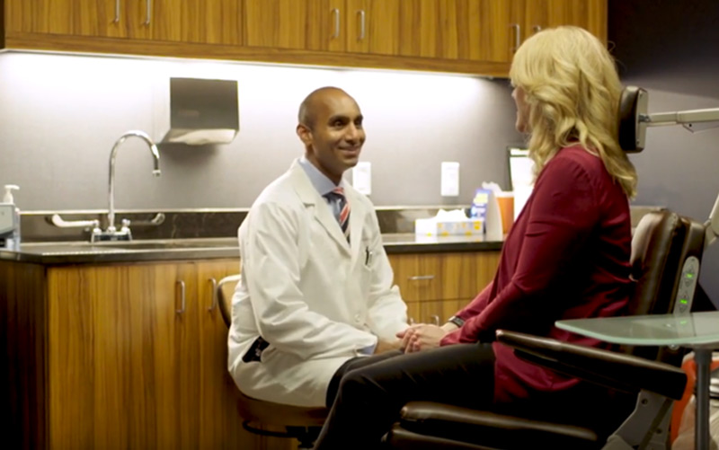 Dr. Kandula with patient