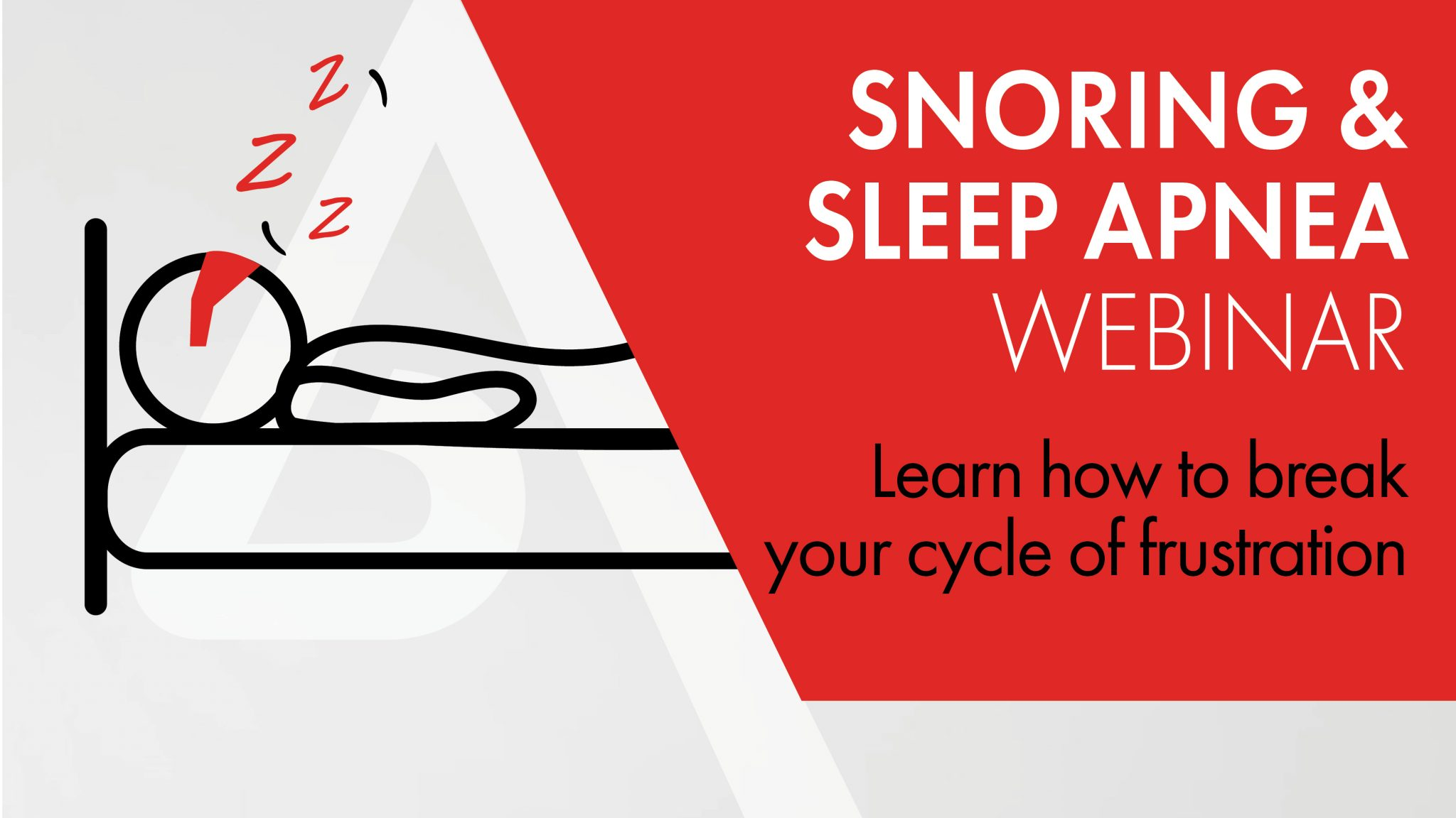 Snoring and sleep apnea webinar cover-PPT