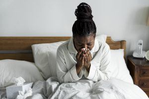 Woman Suffering from Sinusitis