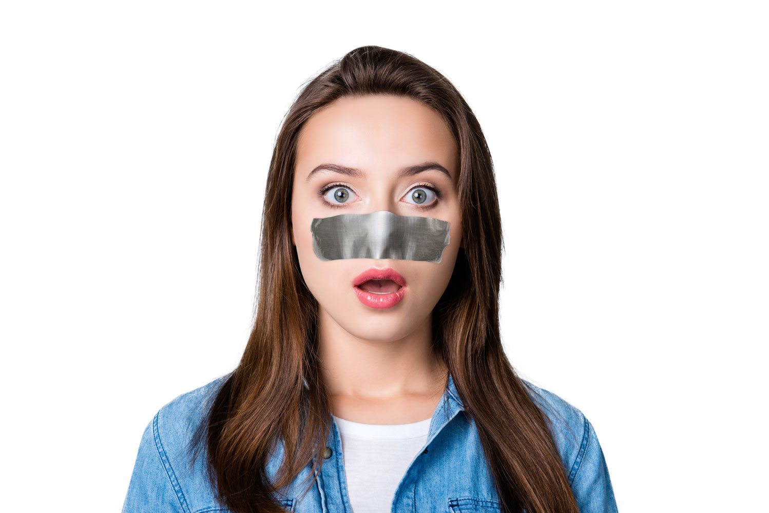 Tape-Over-Nose-Woman